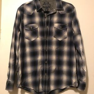 American Rag Blue Button-Up Shirt